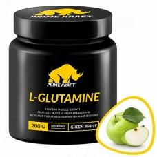 Prime Kraft L-Glutamine 200 г, Зеленое яблоко
