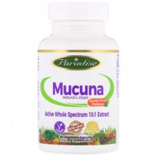Добавка Paradise Herbs Mucuna Pruriens 60 капсул