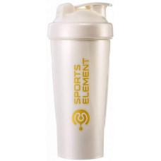 Шейкер Спортивный элемент Айвори S01-600 600 мл белый/золотой