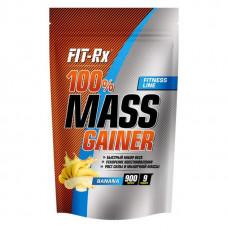Гейнер FIT-Rx 100% Mass Gainer 900 г Банан