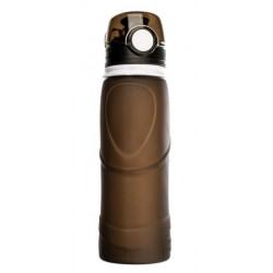 Силиконовая складная бутылка-мешок для воды Verona Terra, 750 мл, черная