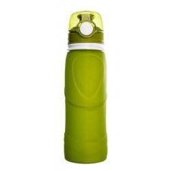Силиконовая складная бутылка-мешок для воды Verona Terra, 750 мл, зеленая
