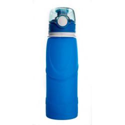 Силиконовая складная бутылка-мешок для воды Verona Terra, 750 мл, синяя