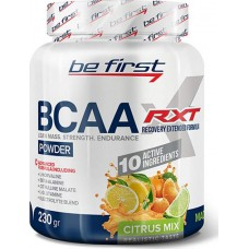 Be First BCAA RXT powder 230g - 230 г, Цитрусовый микс