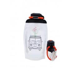 Складная эко бутылка, прозрачная, объём 500 мл - артикул B050TRS-1402 с рисунком