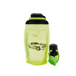 Складная эко бутылка, желто-зеленая, объём 500 мл - артикул B050YGS-1401 с рисунком