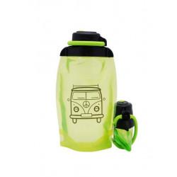 Складная эко бутылка, желто-зеленая, объём 500 мл - артикул B050YGS-1402 с рисунком