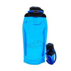 Складная эко бутылка, синяя, объём 860 мл - артикул B086BLS-1404 с рисунком