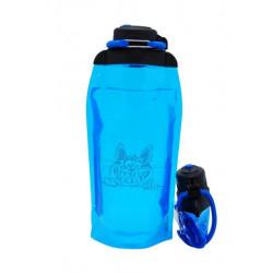Складная эко бутылка, синяя, объём 860 мл - артикул B086BLS-1405 с рисунком