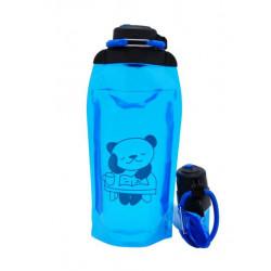 Складная эко бутылка, синяя, объём 860 мл - артикул B086BLS-1410 с рисунком
