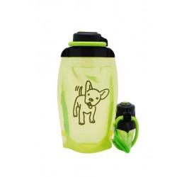Складная эко бутылка, желто-зеленая, объём 500 мл - артикул B050YGS-1408 с рисунком