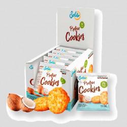 Протеиновое печенье Solvie кокосовое с кокосовой стружкой, упаковка 10шт по 50г