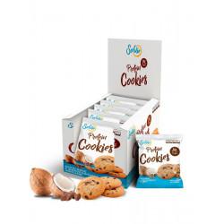 Протеиновое печенье Solvie кокосовое с шоколадными чипсами, упаковка 10шт по 50г