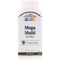 Витаминно-минеральный комплекс 21st Century Mega Multi For Men 90 таблеток