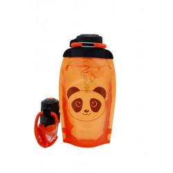 Складная эко бутылка, оранжевая, объём 500 мл - артикул B050ORS-1413 с рисунком