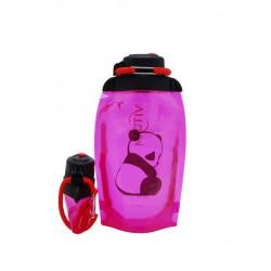 Складная эко бутылка, розовая, объём 500 мл - артикул B050PIS-1411 с рисунком