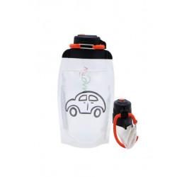 Складная эко бутылка, прозрачная, объём 500 мл - артикул B050TRS-1403 с рисунком