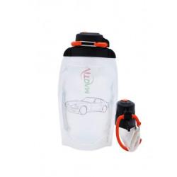 Складная эко бутылка, прозрачная, объём 500 мл - артикул B050TRS-1404 с рисунком