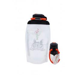 Складная эко бутылка, прозрачная, объём 500 мл - артикул B050TRS-1405 с рисунком