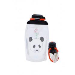 Складная эко бутылка, прозрачная, объём 500 мл - артикул B050TRS-1412 с рисунком