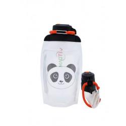 Складная эко бутылка, прозрачная, объём 500 мл - артикул B050TRS-1413 с рисунком