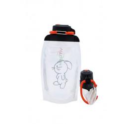 Складная эко бутылка, прозрачная, объём 500 мл - артикул B050TRS-1415 с рисунком