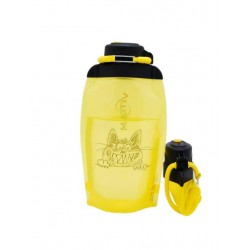 Складная эко бутылка, желтая, объём 500 мл - артикул B050YES-1405 с рисунком