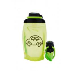 Складная эко бутылка, желто-зеленая, объём 500 мл - артикул B050YGS-1403 с рисунком