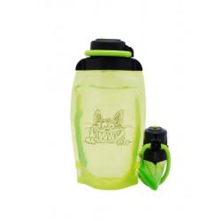 Складная эко бутылка, желто-зеленая, объём 500 мл - артикул B050YGS-1405 с рисунком