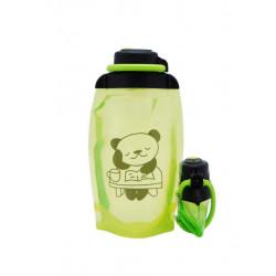 Складная эко бутылка, желто-зеленая, объём 500 мл - артикул B050YGS-1410 с рисунком