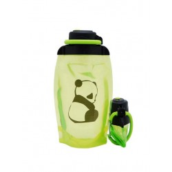 Складная эко бутылка, желто-зеленая, объём 500 мл - артикул B050YGS-1411 с рисунком
