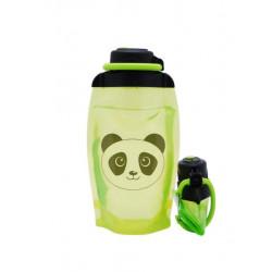 Складная эко бутылка, желто-зеленая, объём 500 мл - артикул B050YGS-1413 с рисунком