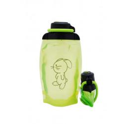 Складная эко бутылка, желто-зеленая, объём 500 мл - артикул B050YGS-1415 с рисунком