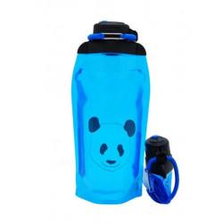 Складная эко бутылка, синяя, объём 860 мл - артикул B086BLS-1412 с рисунком