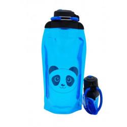 Складная эко бутылка, синяя, объём 860 мл - артикул B086BLS-1413 с рисунком