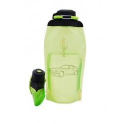 Складная эко бутылка, желто-зеленая, объём 860 мл - артикул B086YGS-1404 с рисунком