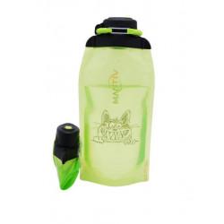 Складная эко бутылка, желто-зеленая, объём 860 мл - артикул B086YGS-1405 с рисунком