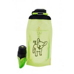 Складная эко бутылка, желто-зеленая, объём 860 мл - артикул B086YGS-1408 с рисунком