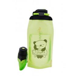 Складная эко бутылка, желто-зеленая, объём 860 мл - артикул B086YGS-1410 с рисунком