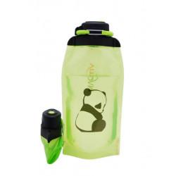 Складная эко бутылка, желто-зеленая, объём 860 мл - артикул B086YGS-1411 с рисунком