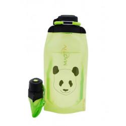 Складная эко бутылка, желто-зеленая, объём 860 мл - артикул B086YGS-1412 с рисунком