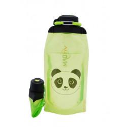 Складная эко бутылка, желто-зеленая, объём 860 мл - артикул B086YGS-1413 с рисунком