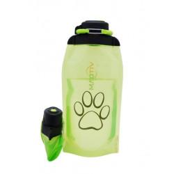 Складная эко бутылка, желто-зеленая, объём 860 мл - артикул B086YGS-1414 с рисунком