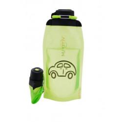 Складная эко бутылка, желто-зеленая, объём 860 мл - артикул B086YGS-1403 с рисунком