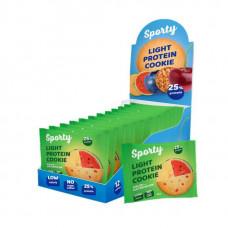 Печенье Sporty Light Protein Cookie 12 40 г, 12 шт., дыня/арбуз