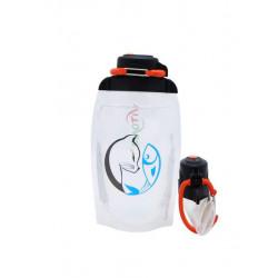 Складная эко бутылка, прозрачная, объём 500 мл - артикул B050TRS-1407 с рисунком