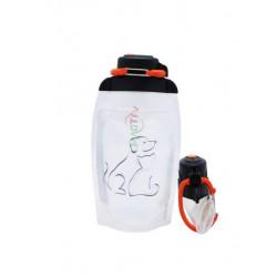 Складная эко бутылка, прозрачная, объём 500 мл - артикул B050TRS-1409 с рисунком