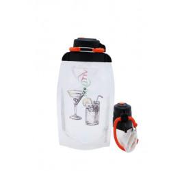 Складная эко бутылка, прозрачная, объём 500 мл - артикул B050TRS-211 с рисунком