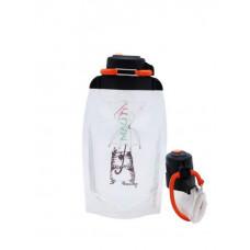 Складная эко бутылка, прозрачная, объём 500 мл - артикул B050TRS-506 с рисунком