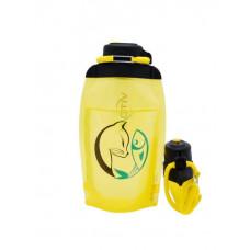 Складная эко бутылка, желтая, объём 500 мл - артикул B050YES-1407 с рисунком